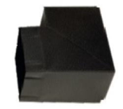 Угол 90х90 мм черный