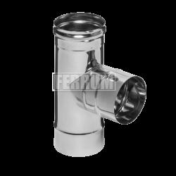 Тройник 90° Ferrum из нержавеющей стали