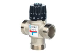 """Термостатический смесительный клапан STOUT 3/4"""" НР  20-43°C"""