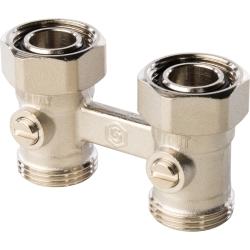 960206-AF Н-блок для нижнего подключения радиатора, прямой ,3/4-3/4