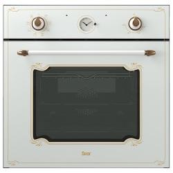 Духовой шкаф электрический SVAR 6009.04эшв-057 S (белое стекло, ручки антич.бронза)