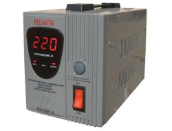 Стабилизаторы напряжения электронного типа с цифровым дисплеем Ресанта АСН