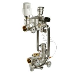Насосно-смесительный узел VALTEC COMBI с термоголовкой, без насоса,  180 мм